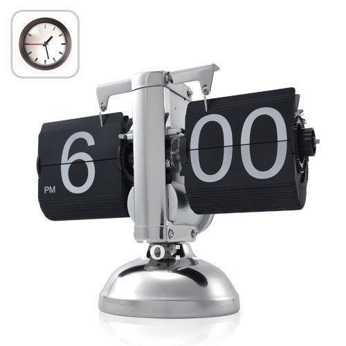 Mini Sized Retro Flip Clock - Internal Gear Operated 12 Hour