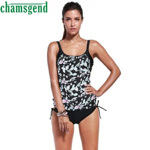 fa69861bfd86c Women Swimwear Sexy Bikini Set Printing Tankini Swimsuit Mujer Push Up  Bathing Beachwear Padded Bra Straps Beach Suits Dec27YP