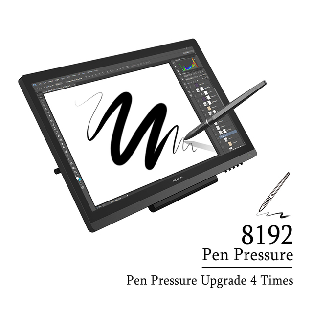 HUION KAMVAS GT-191 Pen Display Monitor 8192 Levels IPS LCD Monitor Digital Graphic Drawing Monitor with Gifts 1