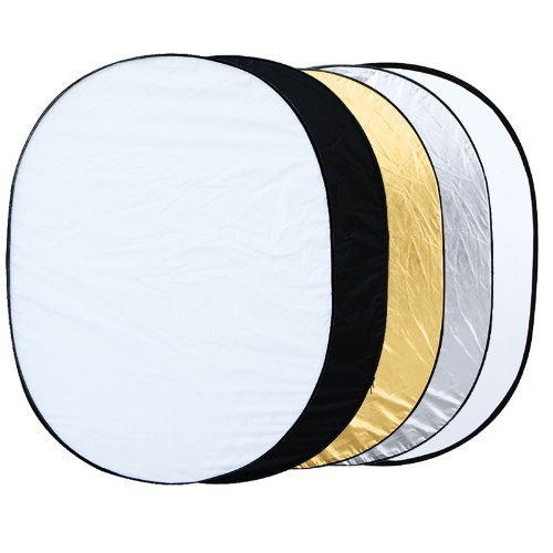 EDT-5 en 1 reflector plegable oval foto estudio 90x120 cm (35