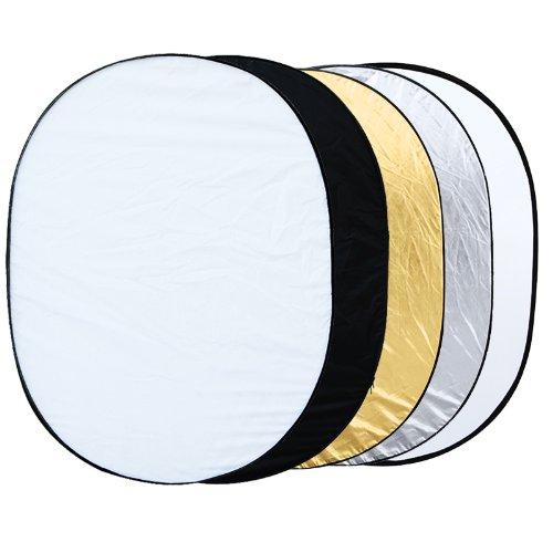 EDT-5 in 1 collapsible reflector oval photo studio 90 x 120 cm (35 x 47 ') mikado uwgt6006 29145 42 x 15 x 25 cm