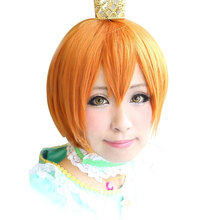 HSIU High Quality Rin Hoshizora Cosplay Wig LoveLive! Love Live  Costume Play Adult  Halloween Anime Hair Free Shipping