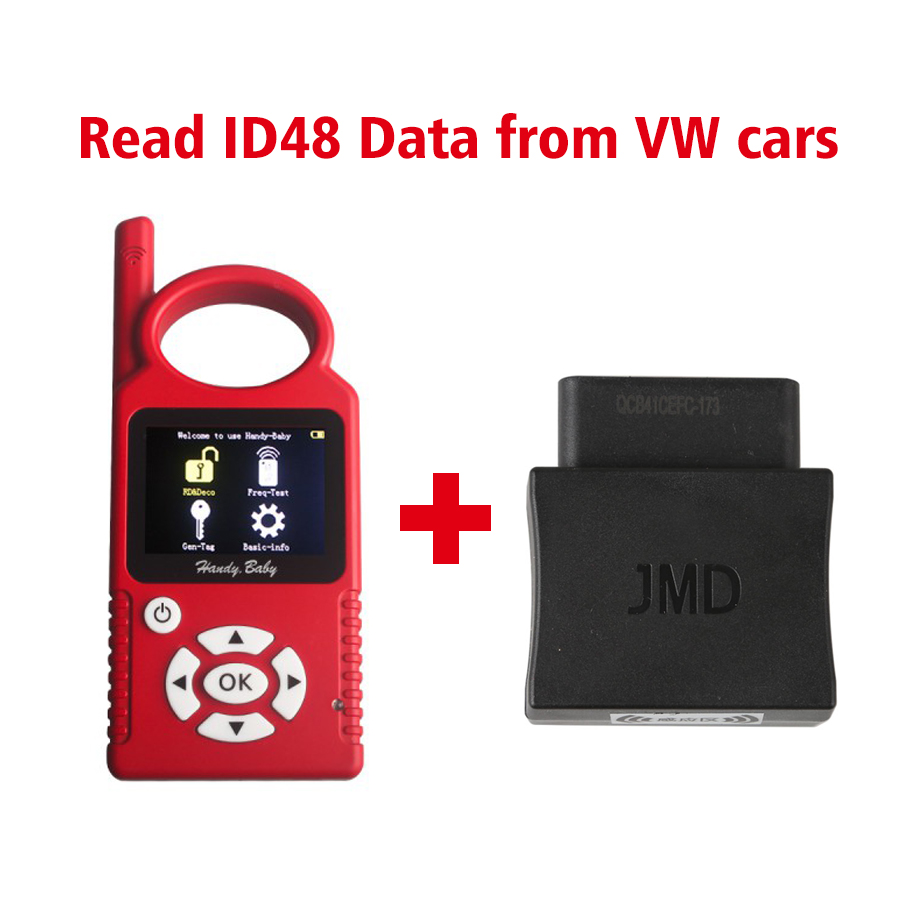 Handy Baby Hand-held Auto Key Programme Plus JMD Assistant OBD Adapter Read ID48 Data from VW Cars  for casio dt930 940 data hand held terminal base 986
