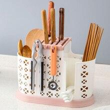 Plastic Drain Household Cage Kitchen Multifunctional Spoon Storage Rack Knife Holder Chopsticks
