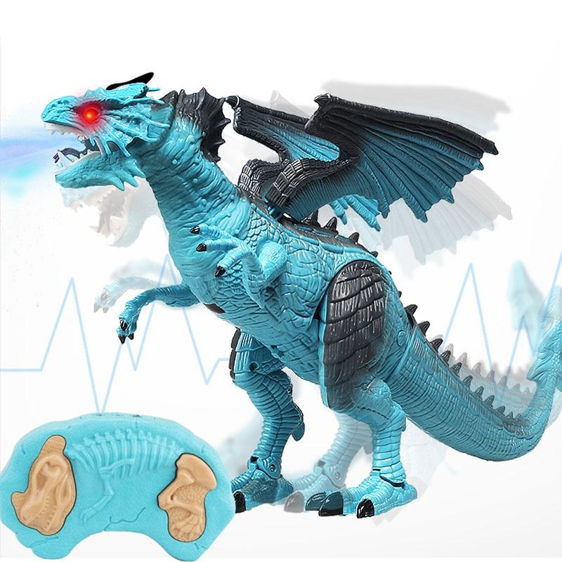 Dinosaure Dragon de Marche Lumière Oeufs Projection Son Noel Enfant Cadeau Jouet
