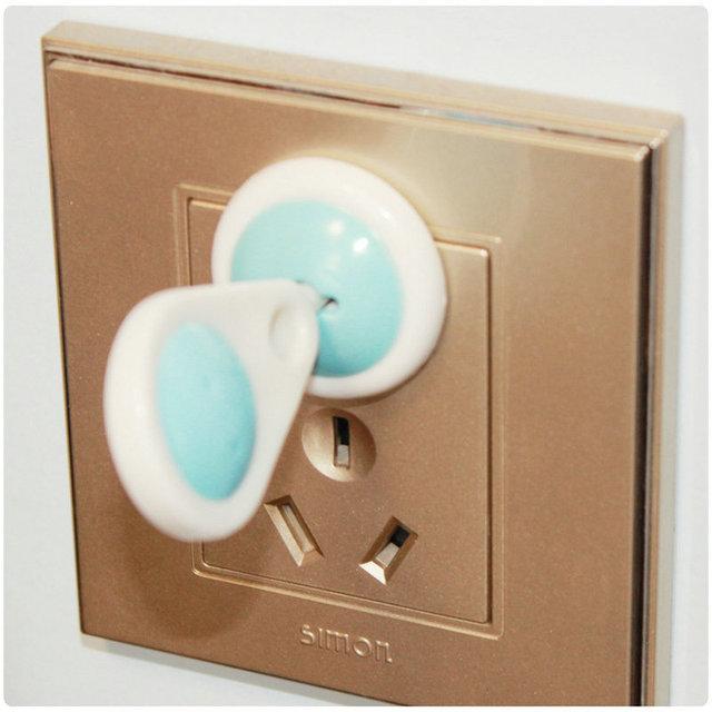 6 Unids/pack 2 Fase Bebé Seguridad Eléctrica Socket Seguridad seguridad Enchufe Cubierta Protectora Tapa SAD-4044