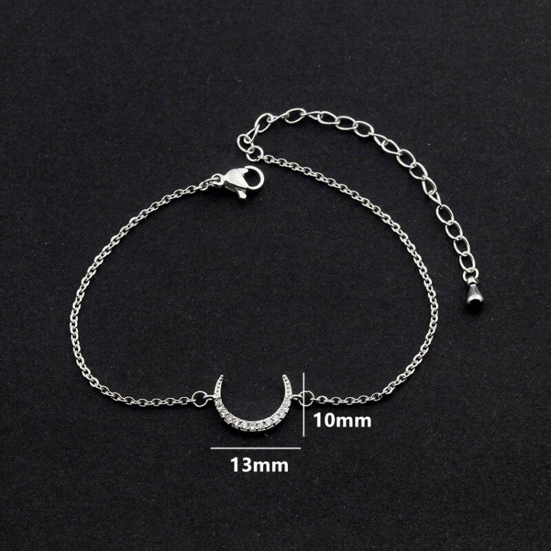 Cubique Zircone Crescent Moon Bracelets Pour Les Femmes Bracciali - Bijoux fantaisie - Photo 3