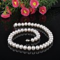 Promotion CHEAP SALE FREE SHIPPING 100% Genuine Freshwater 10-11mm Big Size Pearl Necklace Fashion Accessory Nice Bridal Jewelry