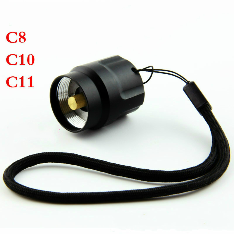 C8 Q5 Flashlight Switch Assembly Tail Accessories Torch Tail Switch Set