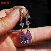 New crystal earrings retro Earrings Ear Ring Button Earrings off long simple small fresh lady Earrings