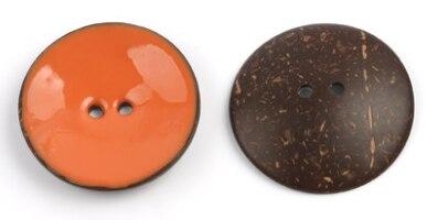 Цветная круглая Кокосовая декоративная кнопка, большая Деревянная пряжка, сделай сам, пальто для одежды, Кокосовая оболочка, клеевая кнопка, Детская Кнопка 63 мм - Цвет: 5