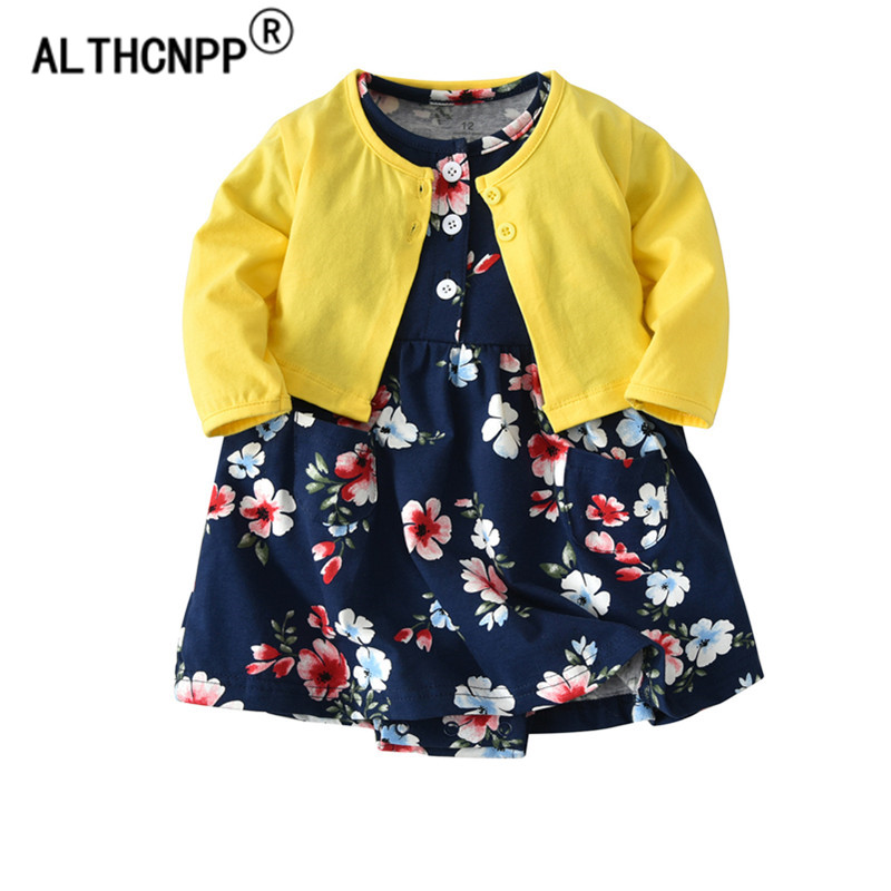 0-2T Newborn Dress Baby Girl Dress Baby Girl Summer Clothes Baby Dress Two-piece Suit Vestido Infantil Roupa De Bebe