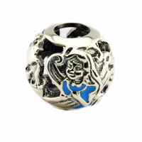 Fits For Pandora Bracelets Alice's Tea Party Charms With Mixed Enamel 100% 925 Sterling Silver Beads Free Shipping