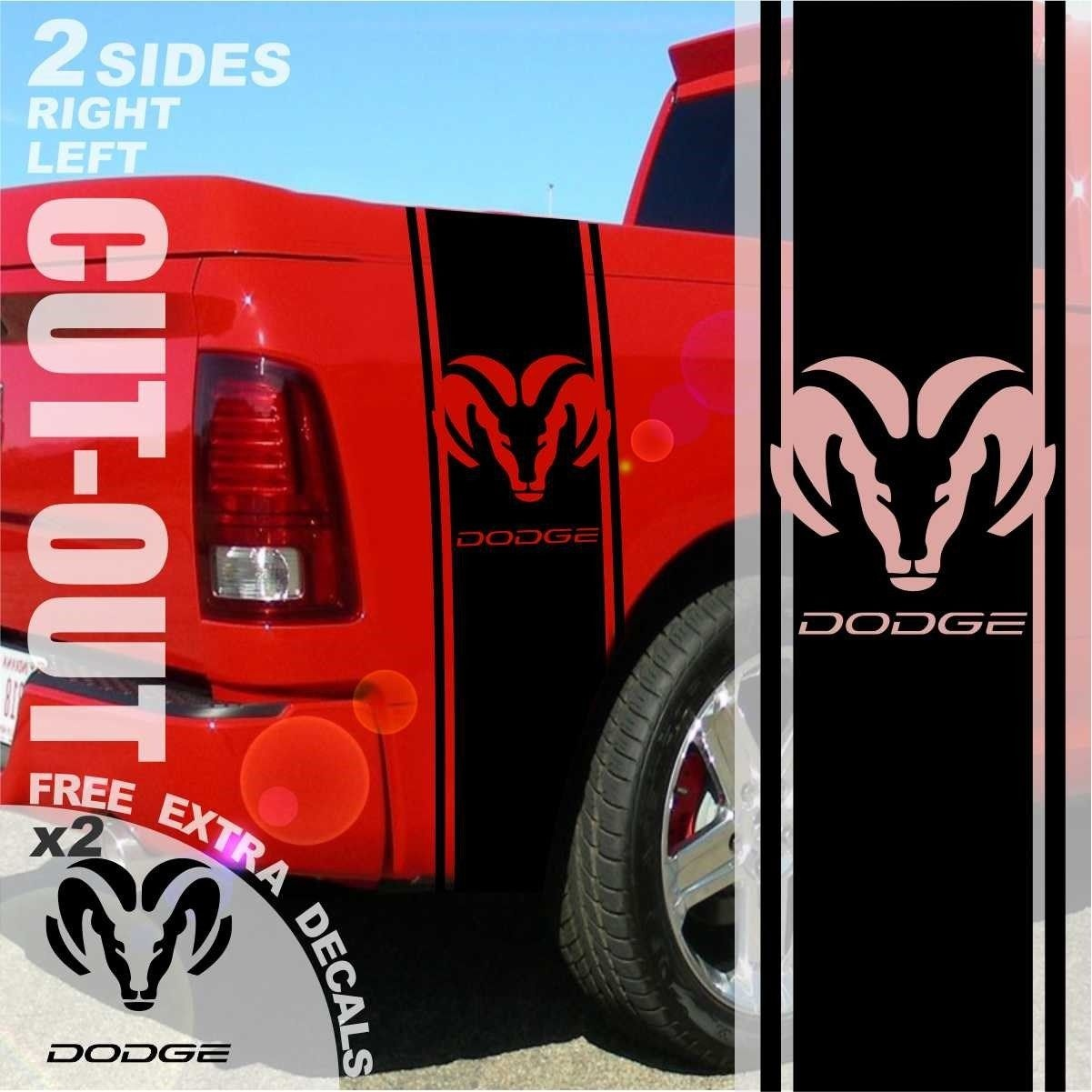 Car Styling for 1500 2500 3500 Truck Bed Side Stripes For Dodge Ram Decals Sticker Graphics 004C ...