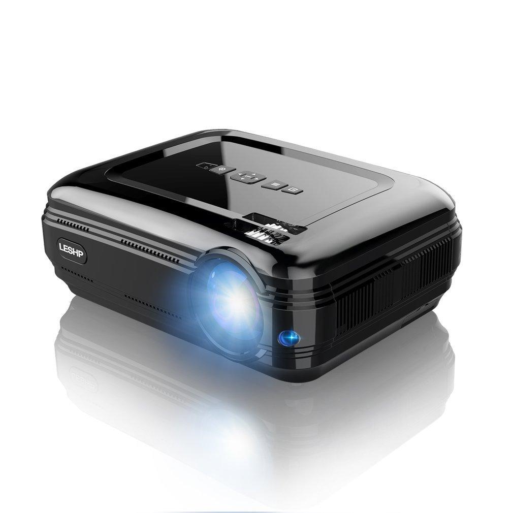 LESHP 720 P LCD projecteur haute résolution haute luminosité 3200 LM multimédia Home cinéma cinéma HDMI VGA USB pour ordinateur portable TV