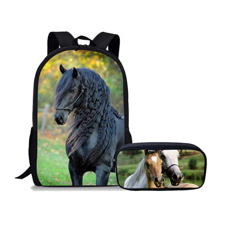 Nowe dzieci Crazy Horse torba szkolna dla nastolatek dziewczyn podstawowej dzieci plecak Tumblr Notebook tornister Mochila Infantil torby szkolne