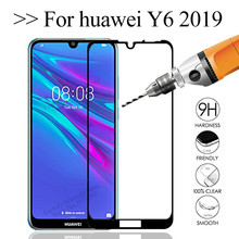 3D Safety Protective Glass On For Huawei Y6 2019 Glass Screen Protector Tempered