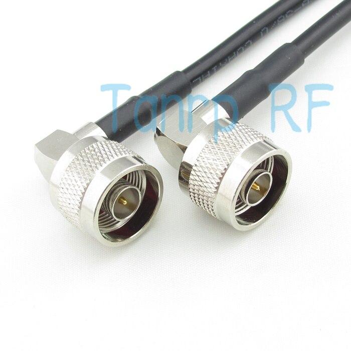 Livraison gratuite! Câble de raccordement coaxial 3 pieds RF Pigtail câble RG58 N prise mâle angle droit à N prise mâle angle droit 100 cm