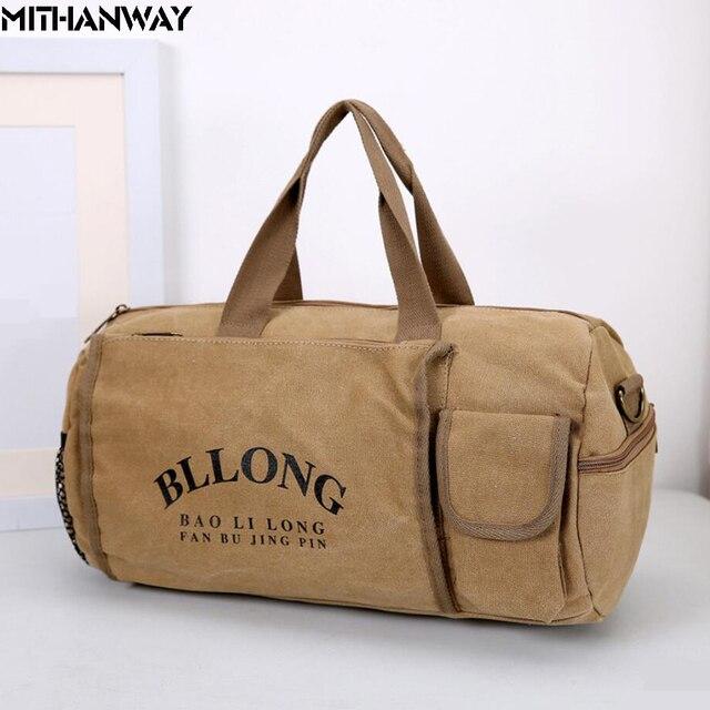 d44b950d5473 Canvas Women Men Sport Cylinder Bag Crossbody Shoulder Duffel Bag  Multifunction Sports Travel Gym Fitness Yoga Bag 5 Colors