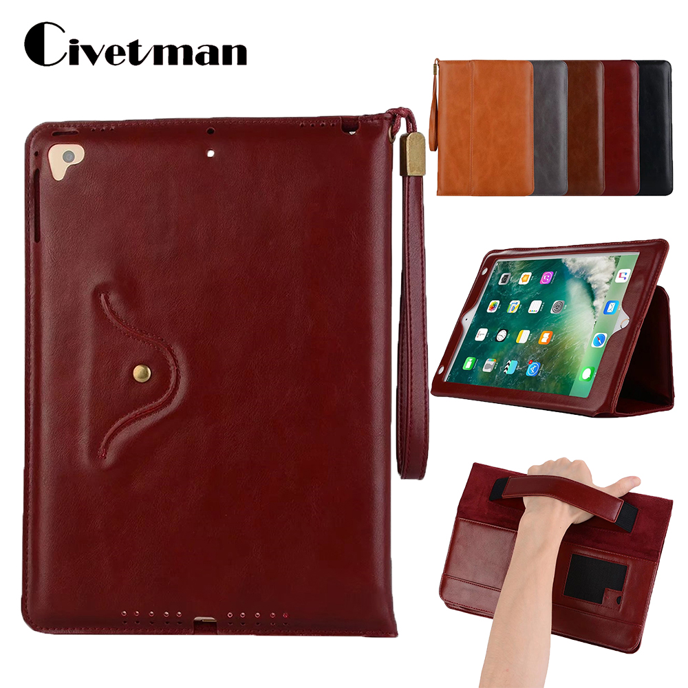 For iPad air luxury cover case for iPad pro 9.7 case for iPad 2017 hand holder strap business book case for iPad air2 A1474 слингобусы ti amo мама слингобусы сильвия