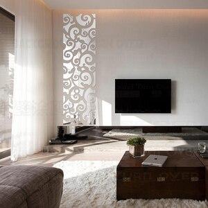 Image 2 - Espejo decorativo 3D con diseño creativo de nubes, pegatinas de pared, decoración de pared de TV, sala de estar y dormitorio, arte para el hogar R123