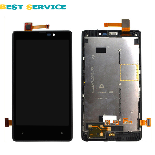 For Nokia Lumia 820 LCD Display + Touch Screen Digitizer Assembly with Frame + Tools Free shipping