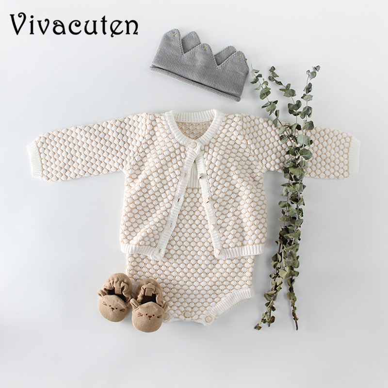 New Autumn Baby Girls   Rompers   Sweater Cute Newborn Baby Knitting Overalls Baby Girls Clothes Infant Girl Princess   Rompers