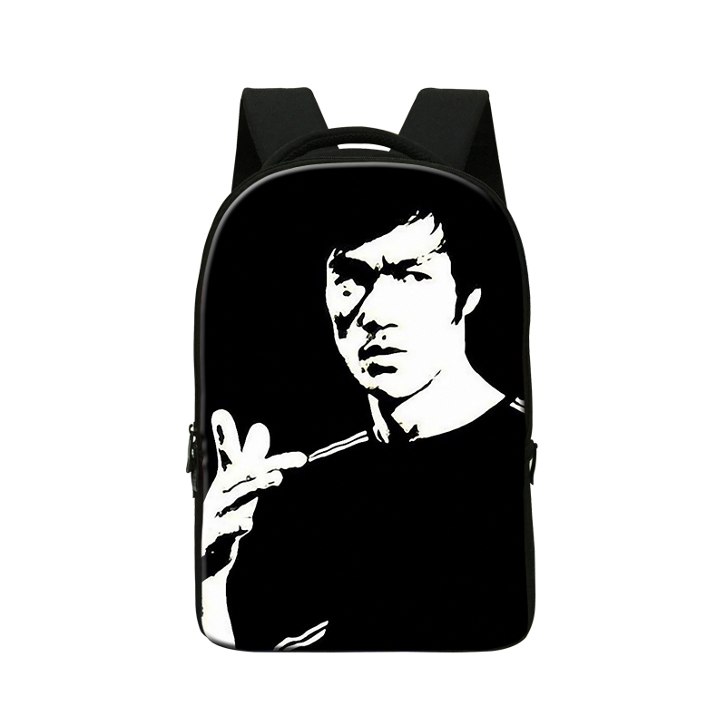Bruce Lee Print laptop bag for teenagers, computer bag for 14 Inch,Design Backpack for College Students,Best Day Pack for Boys