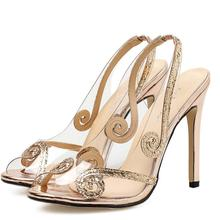 928413890844c3 High heels shoes women luxury bling silver bridal wedding sandals ladies  gold sexy open toe stiletto