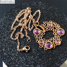 pacificgoddess purple cz stone jewel necklaces pendant for best girl