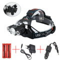 1825 5000Lm Led lighting Head Lamp T6+2R5 LED Headlamp Headlight Camping Fishing Light +2*18650 Battery+Car EU/US/AU/UK Charger