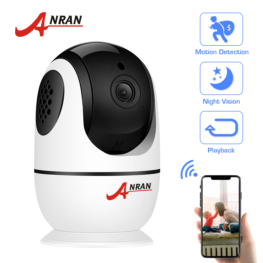 ANRAN Full HD 1080P WiFi IP Camera Surveillance Wireless Two Way Audio 2.0MP Indoor Camera Security Night Vision CCTV Camera