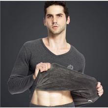 110215 Men thermal underwear autumn clothing pants thin section Breathable Large size cotton sweater suit