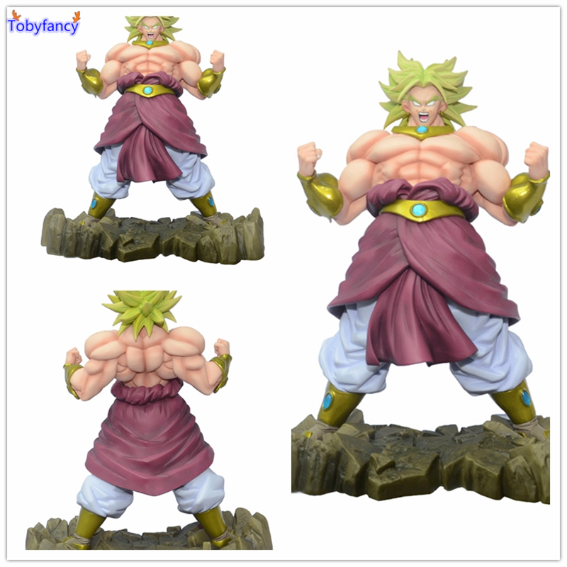 Tobyfancy Anime Dragon Ball Z Action Figures Broli Super Saiyan Broly PVC Action Figure 25CM Collectible Model Kids Toys Doll dragon ball z son goku vs broly super saiyan pvc action figures dragon ball z anime collectible model toy set dbz