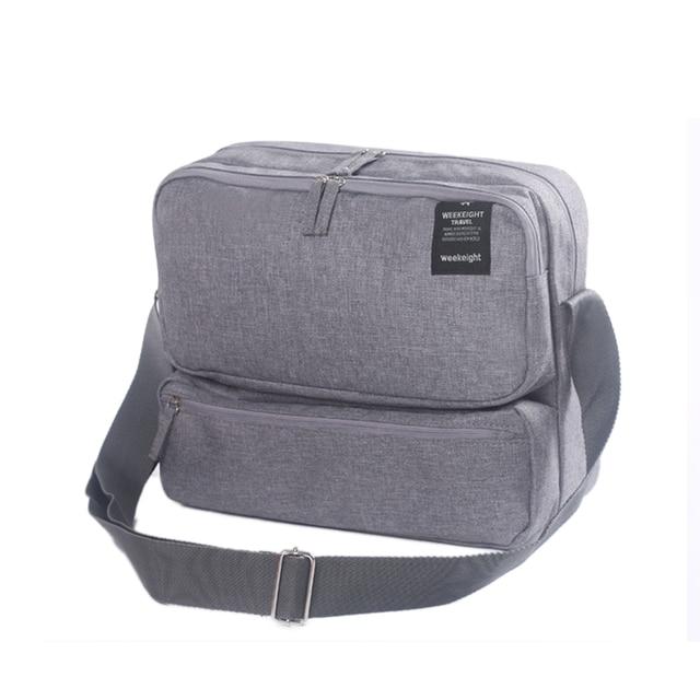 Grande Cubo Bolsas de Viagem e Bagagem para Homens Mulheres Mensageiro Crossbody Bolsa de Ombro Multicamadas Sacos Pacote de Viagem Masculino Feminino