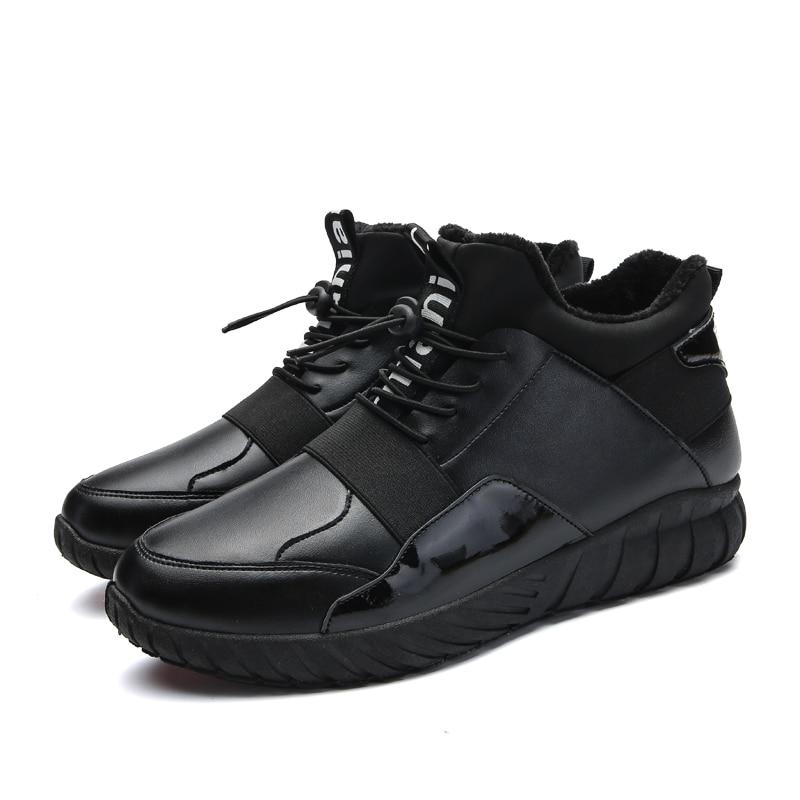 Noir Pur Vintage Casual Loisirs Au Avec Garder Hommes Chaussures Chaud La 2018 D'affaires Hiver Fourrure Style Confortable Couleur qxcE7ZwWUO