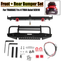 Metal Aluminum Front Rear Bumper Set For TRAXXAS Trx 4 TRX4 Axial SCX10 RC Crawler Upgrade RC Car Auto Parts Set