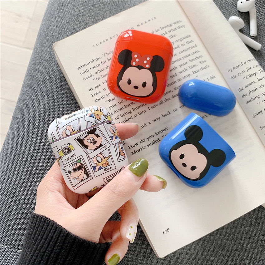 Mickey Bluetooth Wireless Headset Hard Shell Fall Protection Cover for smart 1:1 Headphone Accessory Case I10 12 I30 I60 <font><b>I80TWS</b></font> image