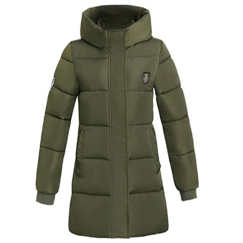 Winter Parka Women Parkas 2017 New Winter Women Jacket Coat Long Slim Thickening Warm Wadded Jacket Female Overcoat Red QH0535