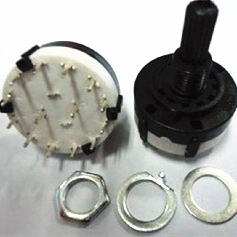 1pcs RS26 1 Pole Position 12 Selectable Band Rotary Channel Selector Switch