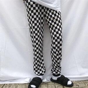 Image 5 - Корейские черно белые шорты с узором «шахматная доска», Новинка лета 2019