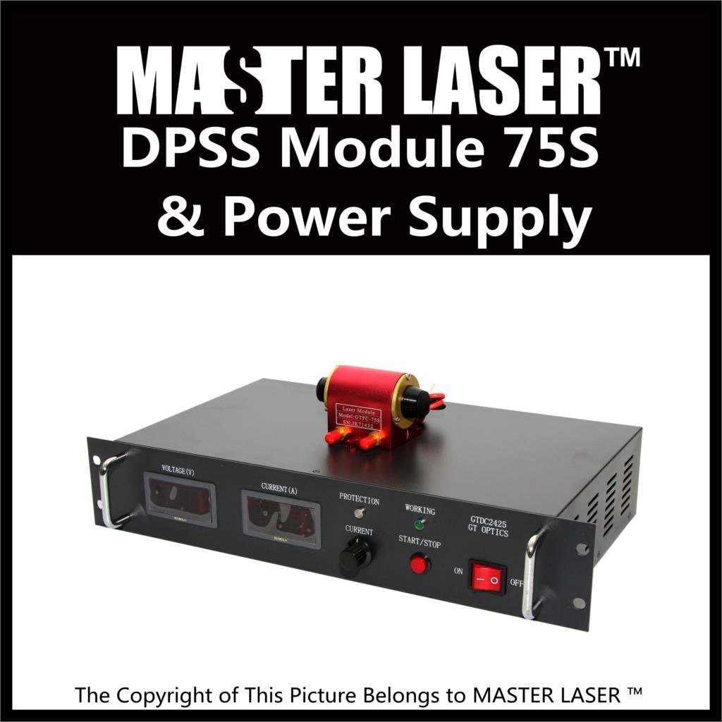 Discount Good Quality HIGH POWER GTPC-75S 75W Diode Pumped Laser Module and matched Power Supply GTDC2425 discount good quality high power gtpc 75s 75w diode pumped laser module power supply gtdc2425