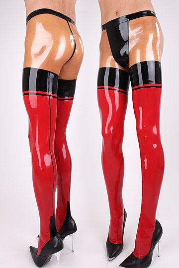 100% pure rubber latex leggings mix color pantyhose latex panties Stitching line latex tights rubber tights rubber jeans panties