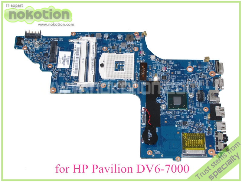 NOKOTION 48.4ST04.021 682176-001 682176-501 Laptop mainboard For hp pavilion DV6-7000 DV6 mothboard HD4000 15.6'' ddr3 665281 001 for hp pavilion dv6 dv6 6000 laptop motherboard ddr3 tested working