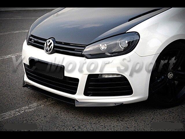 Car Accessories FRP Fiber Glass OSR Style Front Lip 3pcs Fit For 2010 2012 Golf MK6 R20 Front Splitter Lip