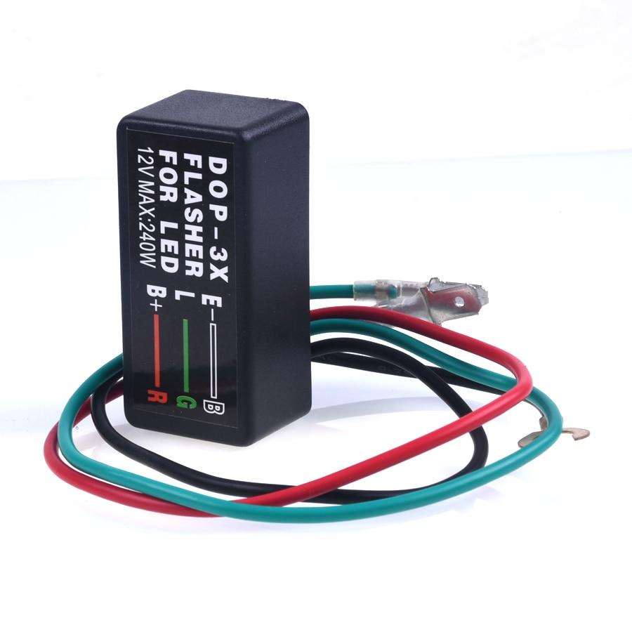 Motorcycle Universal Blinker Relay 3 Pin 12V LED Turn Signal Light Flasher