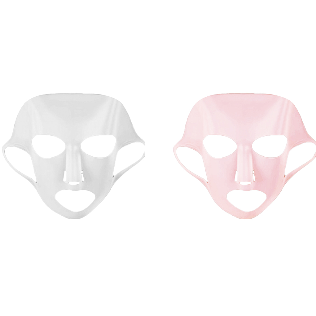 Silicone Face Mask Reusable Facial Cover Ear Makeup Sheet Mask Moisturizing Hydrating Beauty Makeup Face Mask Waterproof Mask image
