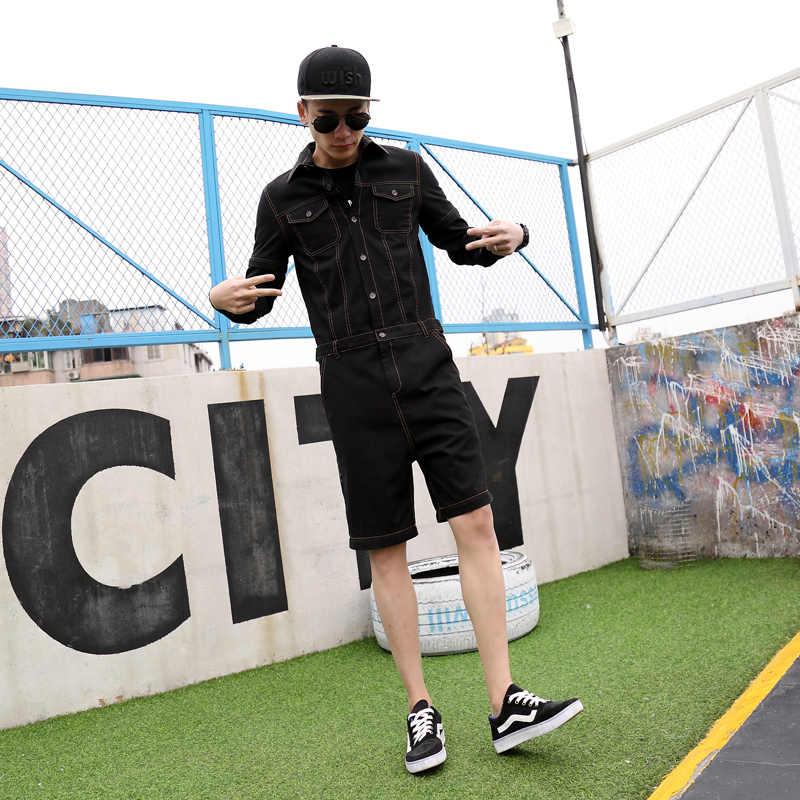 881b5656338 ... 2019 New Men Sets Long Jumpsuit Campus Rompers Demountable Slim-fitting Hip  Hop Young Jumpsuits ...