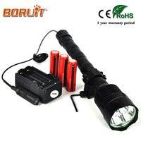 BORUIT XML T6 LED lampe de Poche 6000LM 5 Mode Lampe Flash Lanterne torche Light Gun Mont Interrupteur À Distance Pour Pêche Chasse Flash lampe