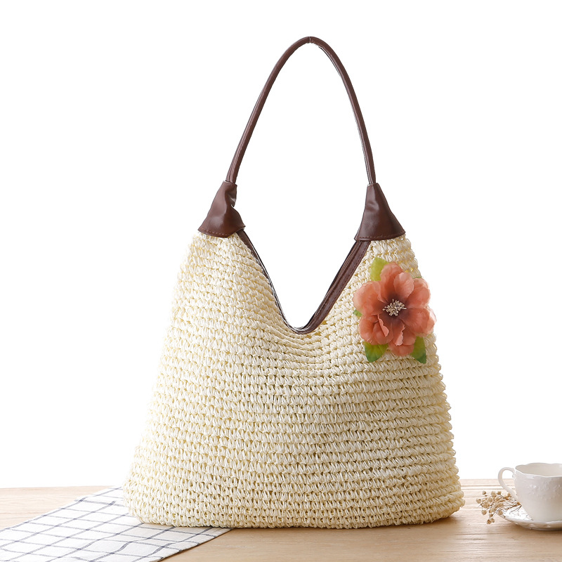 European American Countryside Style Women Rural Handbag Very Large Straw Knitting Beach Bag Casual Tote Bolsas In Shoulder Bags From Luggage On